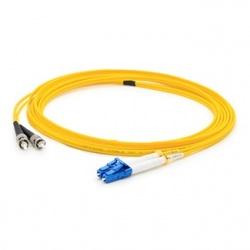 AddOn Cable Fibra Óptica Duplex OS2 LC Macho - ST Macho, 1 Metro, 9/125, Amarillo