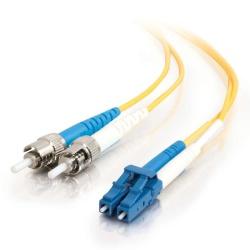 AddOn Networks Cable Fibra Óptica Dúplex OS1 LC Macho - ST Macho, 4 Metros, Amarillo
