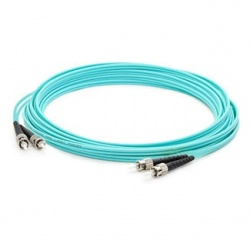 AddOn Cable Fibra Óptica OM3 Dúplex ST Macho - ST Macho, 10 Metros,  Aqua