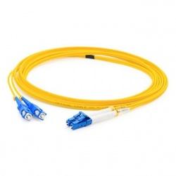 AddOn Cable Fibra Óptica OS2 Dúplex LC Macho - USC Macho, 15 Metros, Amarillo