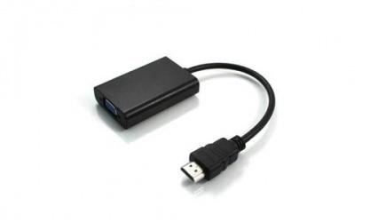 AddOn Adaptador HDMI Macho - VGA Hembra, Negro, 5 Piezas