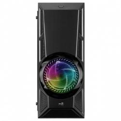 Gabinete Aerocool AeroEngine RGB con Ventana RGB, Midi-Tower, ATX/Micro-ATX/Mini-ITX, USB 2.0/USB 3.0, sin Fuente, Negro