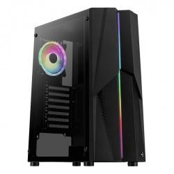 Gabinete Aerocool Mecha ARGB con Ventana, Midi-Tower, ATX/micro ATX/Mini-ITX, USB 3.1, sin Fuente, Negro