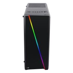 Gabinete Aerocool Cylon con Ventana RGB, Midi-Tower, ATX/micro ATX/mini-ITX, USB 2.0/3.0, Negro