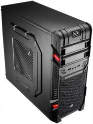 Gabinete Aerocool GT Black Edition, Midi-Tower, ATX/micro-ATX, sin Fuente, Negro/Rojo
