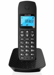 Alcatel Teléfono Inalámbrico DECT E192, Altavoz, 1 Auricular, Negro