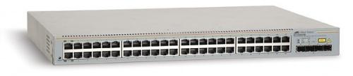 Switch Allied Telesis Gigabit Ethernet WebSmart, 48 Puertos 10/100/1000Mbps + 4 Puertos SFP+, 8000 Entradas - Gestionado