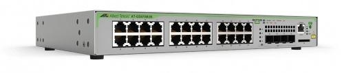 Switch Allied Telesis Gigabit Ethernet AT-GS970M/28, 24 Puertos 10/100/1000Mbps + 4 Puertos SFP, 56 Gbit/s, 16.000 Entradas - Gestionado