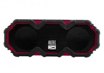 Altec Lansing Bocina Portátil Mini LifeJacket Jolt, Bluetooth, Inalámbrico, Negro/Rojo - Resistente al Agua