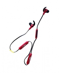 Altec Lansing Audífonos Intrauriculares Deportivos MZX857, Inalámbrico, Bluetooth, Rojo/Negro