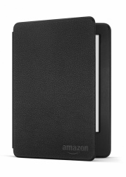 Amazon Funda de Cuero con Tapa para Kindle 6'', Negro