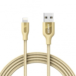 Anker Cable PowerLine+ USB A Macho - Lightning Macho, 1.8 Metros, Oro
