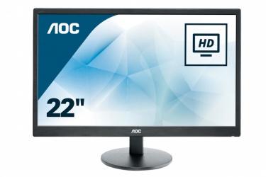 Monitor AOC e2270Swn LED 21.5'', FullHD, Widescreen, Negro/Plata