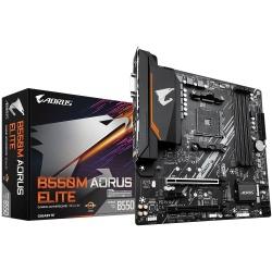 Tarjeta Madre AORUS Micro ATX B550M ELITE, S-AM4, AMD B550, HDMI, 128GB DDR4 para AMD — Requiere Actualización de BIOS para la Serie Ryzen 5000