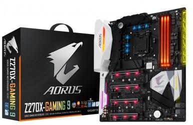Tarjeta Madre AORUS ATX GA-Z270X-GAMING 9, S-1151, Intel Z270, HDMI, 64GB DDR4 para Intel