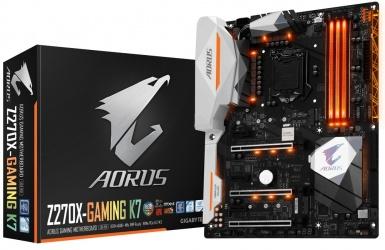 Tarjeta Madre AORUS ATX GA-Z270X-GAMING K7, S-1151, Intel Z270, HDMI, 64GB DDR4 para Intel