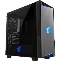 Gabinete AORUS C300 GLASS con Ventana RGB, Midi Tower, ATX/Micro ATX/Mini-ITX, USB 3.0, sin Fuente, Negro