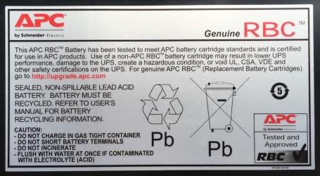 APC Batería de Reemplazo para UPS Cartucho #11 RBC11