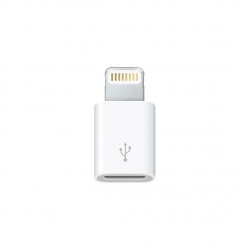 Apple Adaptador MD820AM/A Lightning Macho - MicroUSB Hembra, Blanco, para iPhone/iPad/iPod