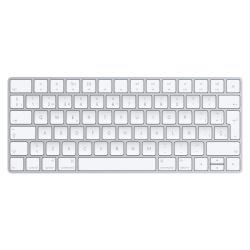 Apple Magic Keyboard, Bluetooth, Inalámbrico, Plata/Blanco (Español)