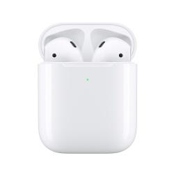 Apple Audífonos Intrauriculares AirPods (2da. Generación), Inalámbrico, Bluetooth, Blanco - incluye Estuche de Carga Inalámbrica