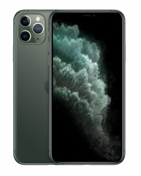 "Apple iPhone 11 Pro Max 6.5"" OLED, 64GB, 4GB RAM, 4G, iOS 13, Midnight Green ― Condición Especial, Caja Abierta"