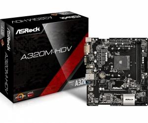 Tarjeta Madre ASRock microATX A320M-HDV, S-AM4, AMD A320, HDMI, 32GB DDR4 para AMD