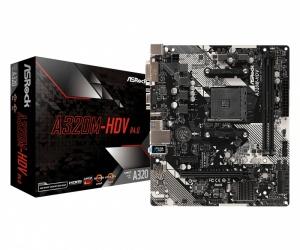Tarjeta Madre ASRock Micro ATX A320M-HDV R4.0, S-AM4, AMD Promontory A320, HDMI, 32GB DDR4 para AMD