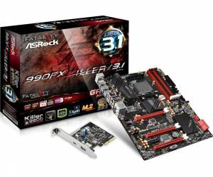 Tarjeta Madre ASRock ATX Fatal1ty 990FX Killer/3.1, S-AM3+, AMD 990FX, 64GB DDR3, para AMD