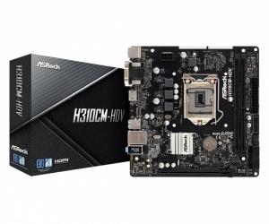 Tarjeta Madre ASRock micro ATX H310CM-HDV, S-1151, Intel H310, HDMI, 32GB DDR4 para Intel ― Compatibles solo con 8va & 9va Generación (Revisar modelos aplicables)