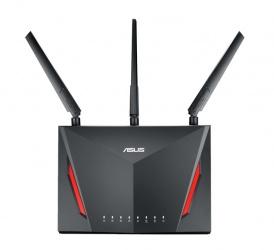 Router ASUS Gigabit Ethernet RT-AC86U AC2900 con AiMesh, 2917 Mbit/s, 4x RJ-45, 2.4/5GHz, 3 Antenas Externas ― ¡Optimizado para Gaming!