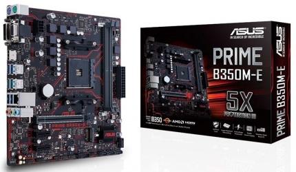 Tarjeta Madre ASUS micro ATX Prime B350M-E, S-AM4, AMD B350, HDMI, 32GB DDR4, para AMD