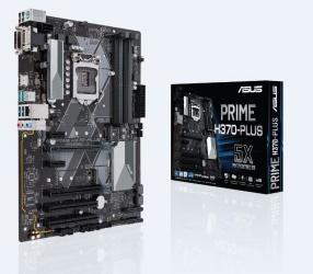 Tarjeta Madre ASUS ATX PRIME H370-PLUS, S-1151, Intel H370, HDMI, 64GB DDR4 para Intel ― Compatibles solo con 8va & 9va Generación