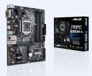 Tarjeta Madre ASUS microATX PRIME B360M-A, S-1151, Intel B360, HDMI, 64GB DDR4 para Intel ― Compatibles solo para 8va Generación