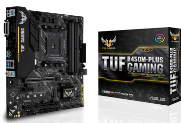 Tarjeta Madre ASUS micro ATX TUF B450M-PLUS GAMING, S-AM4, AMD B450, HDMI, 64GB DDR4 para AMD