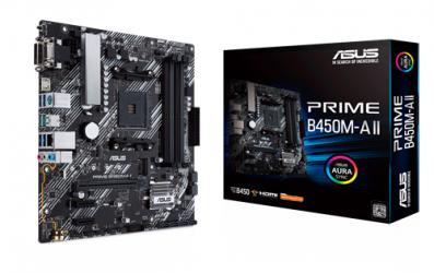 Tarjeta Madre ASUS Micro ATX PRIME B450M-A II, S-AM4, AMD B450, HDMI, 128GB DDR4 para AMD ― Requiere Actualización de BIOS para Ryzen Serie 5000
