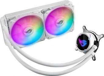 ASUS ROG Strix LC 240 Enfriamiento Líquido para CPU con Aura Sync RGB, 2x 120mm, 800 - 2500RPM, Blanco