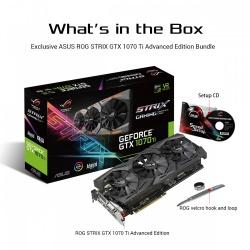 Tarjeta de Video ASUS NVIDIA GeForce GTX 1070 Ti ROG STRIX Gaming Edición Advanced, 8GB 256-bit GDDR5, PCI Express 3.0