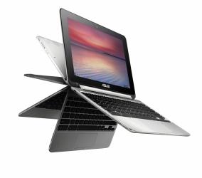 ASUS 2 en 1 Chromebook Flip C101PA-FS002 10.1'' WXGA, RockChip, 4GB, 16GB eMMC, Chrome OS, Plata