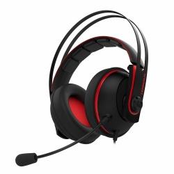 ASUS Audifonos Gamer CERBERUS V2, Alámbrico, 1.2 Metros, 3.5mm, Negro/Rojo