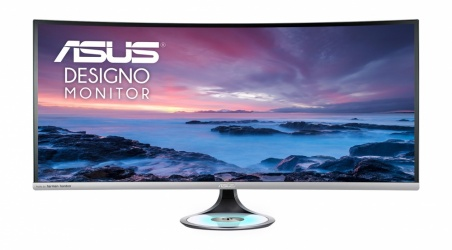 "Monitor Curvo ASUS Designo MX38VC LED 37.5"", Quad HD, Ultra Wide, 75Hz, HDMI, Bocinas Integradas (2 x 10W), Plata"
