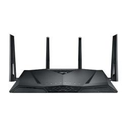 Router ASUS Gigabit Ethernet de Doble Banda AC3100 RT-AC3100 con AiMesh, Inalámbrico, 5x RJ-45, 2.4-5GHz, con 4 Antenas Externas ― ¡Optimizado para Gaming!
