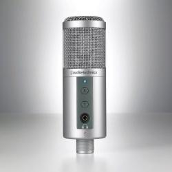 Audio-Technica Micrófono ATR2500-USB, Alámbrico, Plata