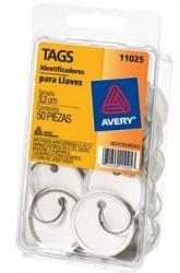 Avery Identificadores para Llaves, Etiqueta Blanca, Paquete de 50 Piezas