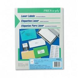 Avery Etiqueta PRES-a-ply 30604, 600 Etiquetas de 3 1/3'' x 4'', Blanco