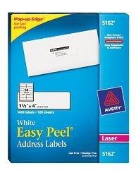 Avery 1400 Etiquetas Blancas, 102mm x 34mm