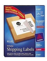 Avery 100 Etiquetas Blancas, 279mm x 216mm