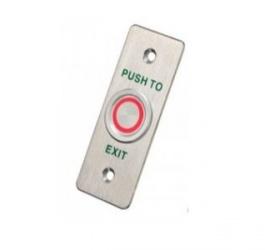 Axcese Boton de Salida Iluminado AX-PUB86L, 1 Canal, Aluminio