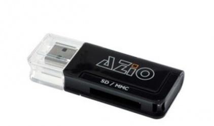 Azio Lector de Memoria CAR-S10, SD/MMC/MicroSD, USB 2.0, Negro