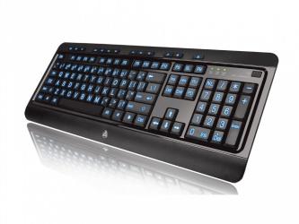 Teclado Azio KB505U, Alámbrico, USB, Negro (Inglés)